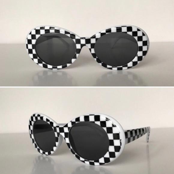 0d421ecbc1 Black   White Checkered Clout Goggles